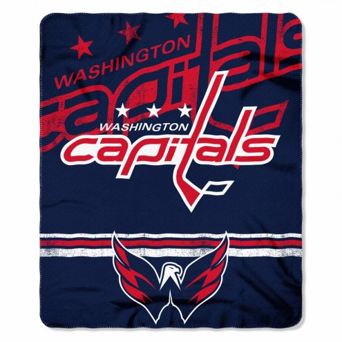 Washington Capitals Fade Away Fleece Blanket