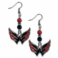 Washington Capitals Fan Bead Dangle Earrings