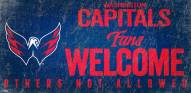 Washington Capitals Fans Welcome Sign
