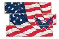 Washington Capitals Flag 3 Plank Sign