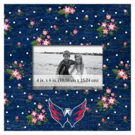 "Washington Capitals Floral 10"" x 10"" Picture Frame"