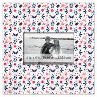 """Washington Capitals Floral Pattern 10"""" x 10"""" Picture Frame"""