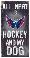 Washington Capitals Hockey & My Dog Sign