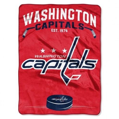 Washington Capitals Inspired Plush Raschel Blanket