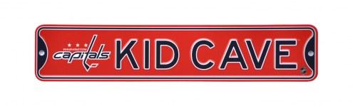Washington Capitals Kid Cave Street Sign