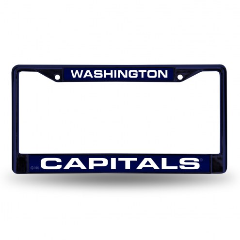 Washington Capitals Laser Colored Chrome License Plate Frame