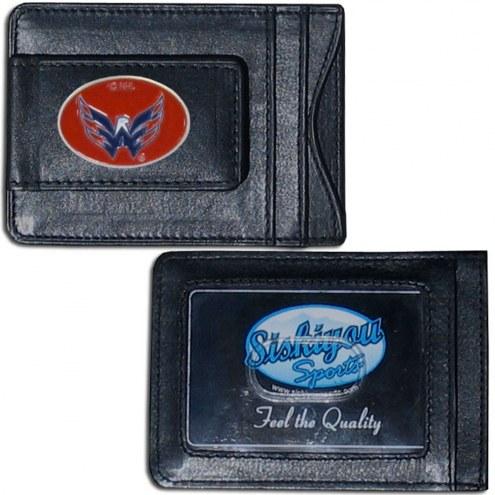 Washington Capitals Leather Cash & Cardholder