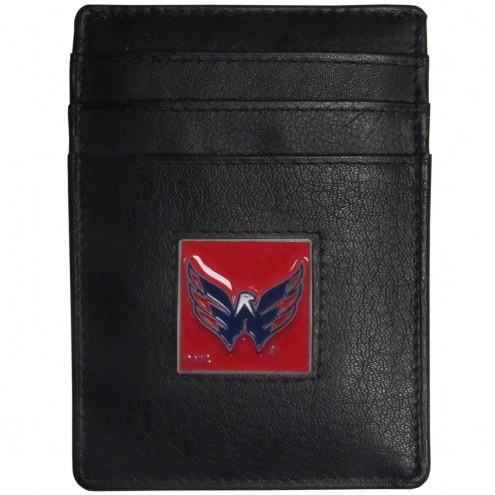 Washington Capitals Leather Money Clip/Cardholder in Gift Box