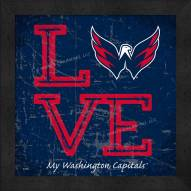 Washington Capitals Love My Team Color Wall Decor