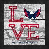 Washington Capitals Love My Team Square Wall Decor