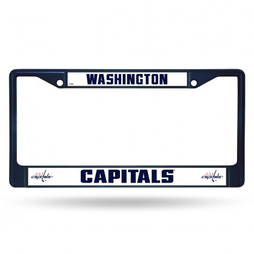 Washington Capitals Navy Colored Chrome License Plate Frame