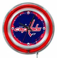 Washington Capitals Neon Clock