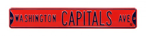 Washington Capitals NHL Authentic Street Sign