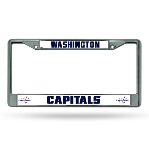 Washington Capitals NHL Chrome License Plate Frame