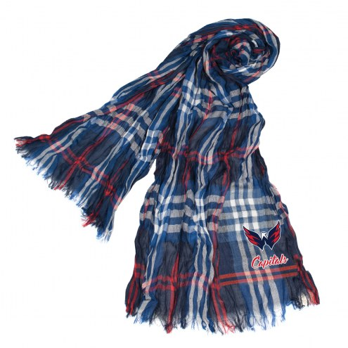 Washington Capitals Plaid Crinkle Scarf