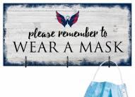 Washington Capitals Please Wear Your Mask Sign
