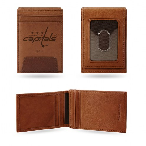 Washington Capitals Premium Leather Front Pocket Wallet