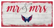 Washington Capitals Script Mr. & Mrs. Sign