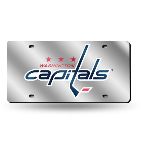 Washington Capitals Silver Laser License Plate