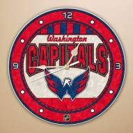 Washington Capitals Stained Glass Wall Clock