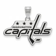 Washington Capitals Sterling Silver Large Enameled Pendant
