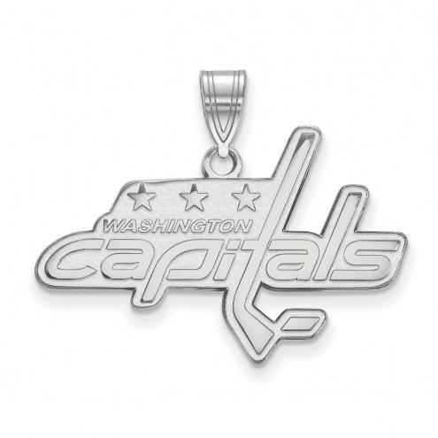 Washington Capitals Sterling Silver Large Pendant