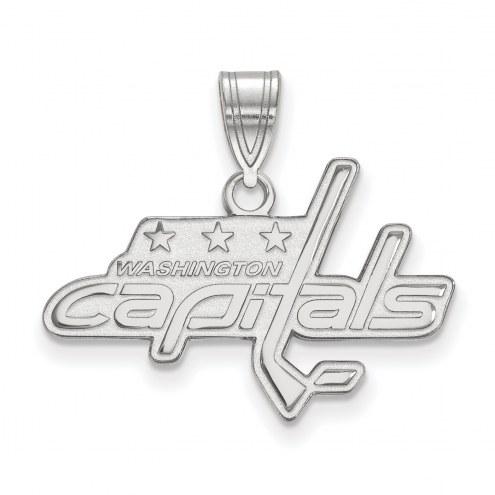 Washington Capitals Sterling Silver Medium Pendant