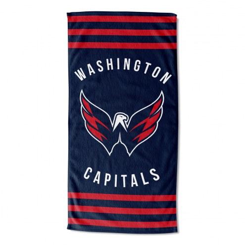 Washington Capitals Stripes Beach Towel