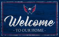 Washington Capitals Team Color Welcome Sign