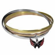 Washington Capitals Tri-color Bangle Bracelet
