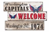 Washington Capitals Welcome 3 Plank Sign