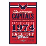 Washington Capitals Established Wood Sign