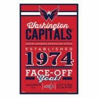 Washington Capitals Established Wood Sign