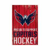 Washington Capitals Proud to Support Wood Sign