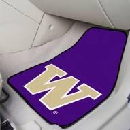 Washington Huskies 2-Piece Carpet Car Mats