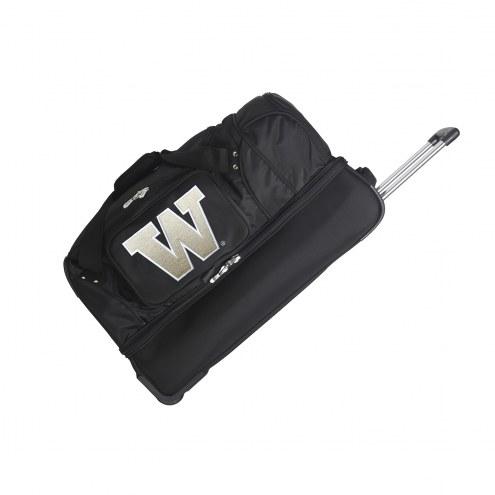 "Washington Huskies 27"" Drop Bottom Wheeled Duffle Bag"