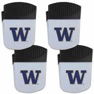 Washington Huskies 4 Pack Chip Clip Magnet with Bottle Opener