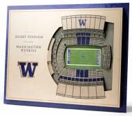 Washington Huskies 5-Layer StadiumViews 3D Wall Art
