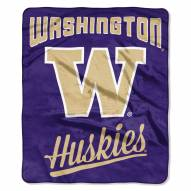 Washington Huskies Alumni Raschel Throw Blanket