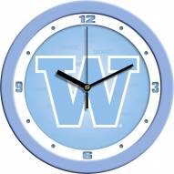 Washington Huskies Baby Blue Wall Clock