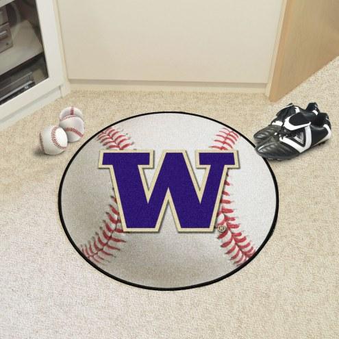 Washington Huskies Baseball Rug