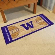 Washington Huskies Basketball Court Runner Rug
