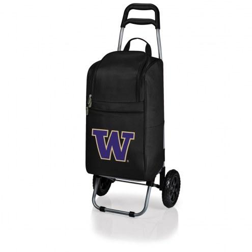 Washington Huskies Black Cart Cooler