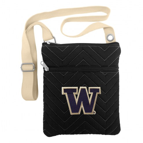 Washington Huskies Chevron Stitch Crossbody Bag