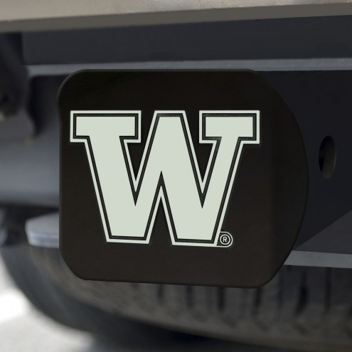 Washington Huskies Black Matte Hitch Cover