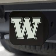 Washington Huskies Black Matte Hitch Cover