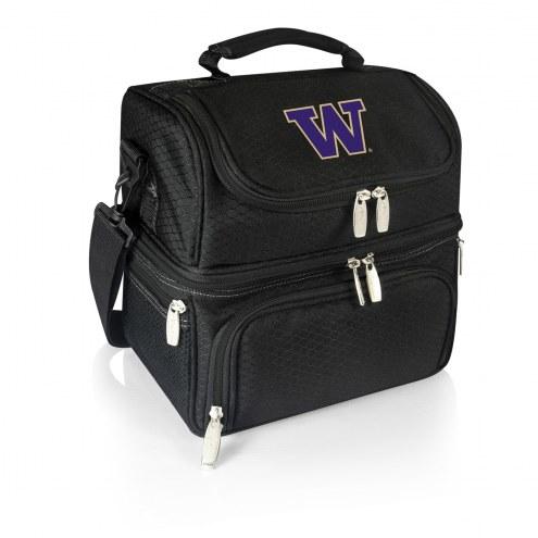 Washington Huskies Black Pranzo Insulated Lunch Box
