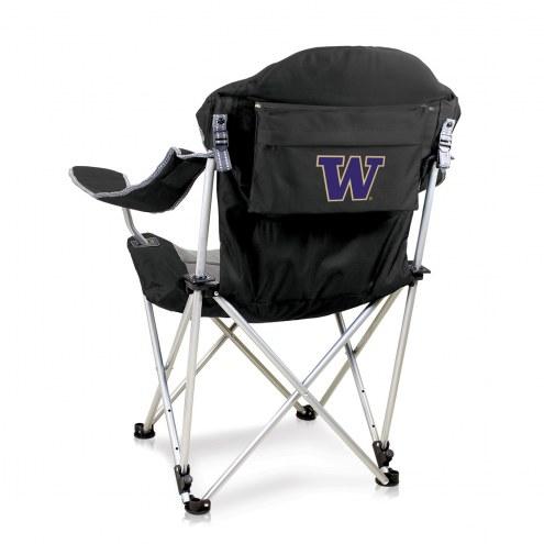 Washington Huskies Black Reclining Camp Chair