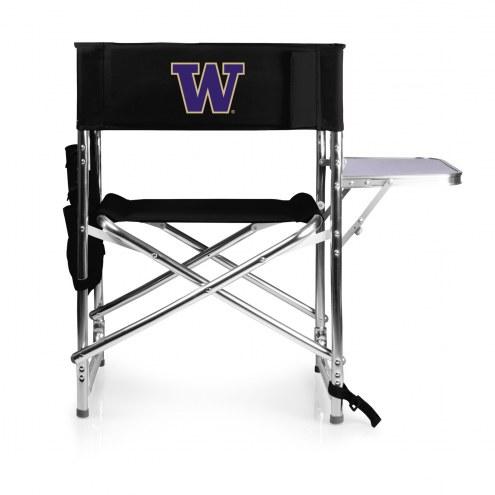 Washington Huskies Black Sports Folding Chair