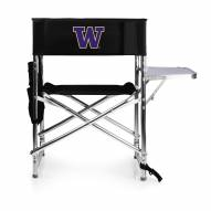 Washington Huskies Black Sports Folding Chair